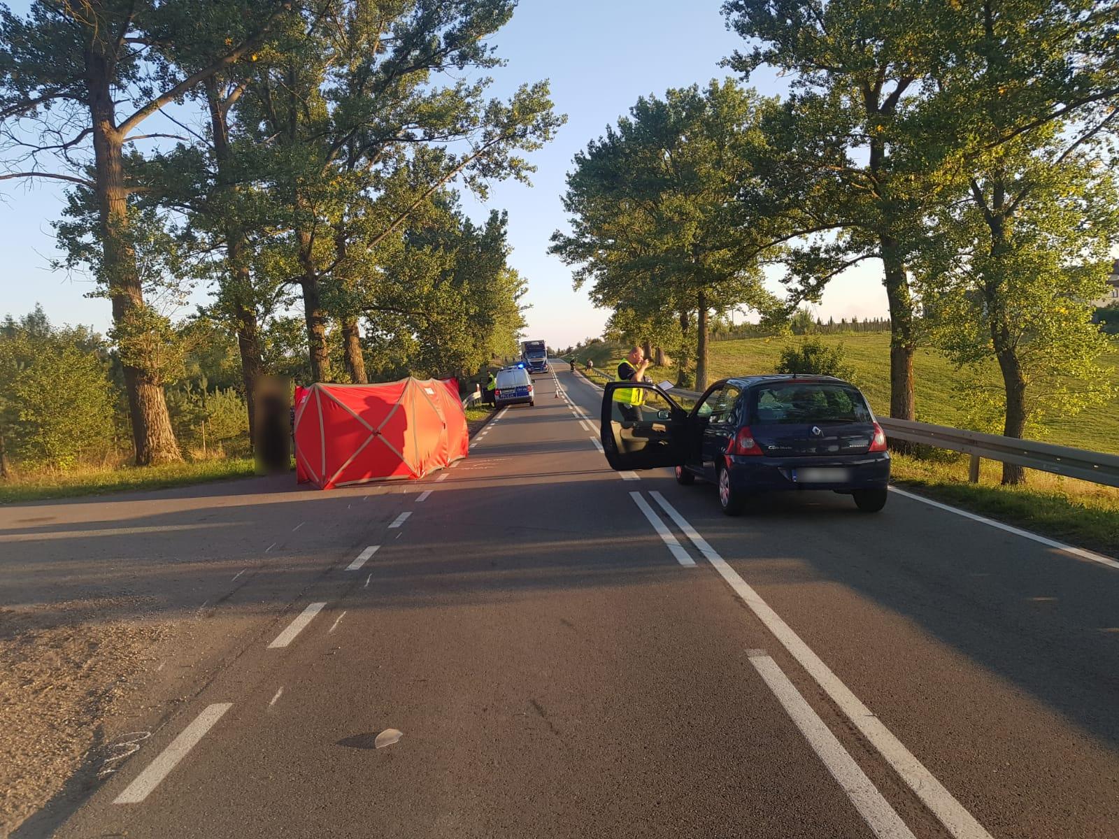 KPP Ełk: Wypadek w Witynach. Nie żyje 78-letni mężczyzna